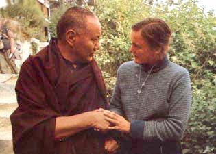With Vicki Mackenzie, Kopan, December 10, 1983.