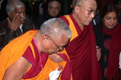 Rinpoche with His Holiness