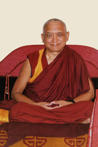 Taken in Rinpoche's room during the Lama Tsongkhapa retreat at Istituto Lama Tzong Khapa, Sept 2004