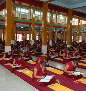 monks studying