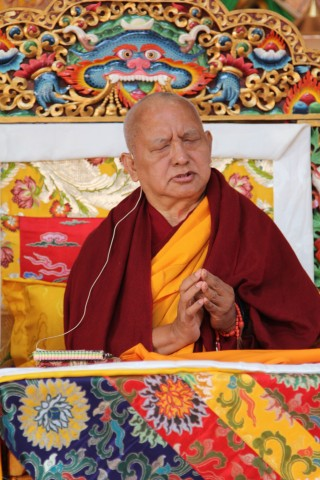 Rinpoche in Nepal, Jan 2013. Photo by Ven Roger Kunsang