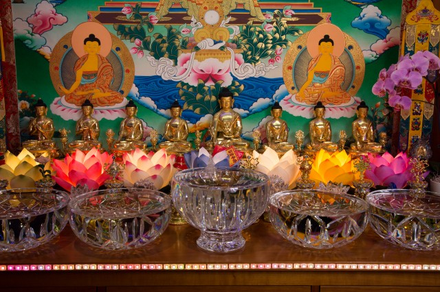 2013-11-Aptos-Medicine Buddha statue on altar_