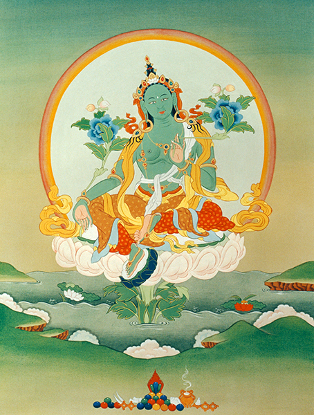 Green Tara by Peter Iseli