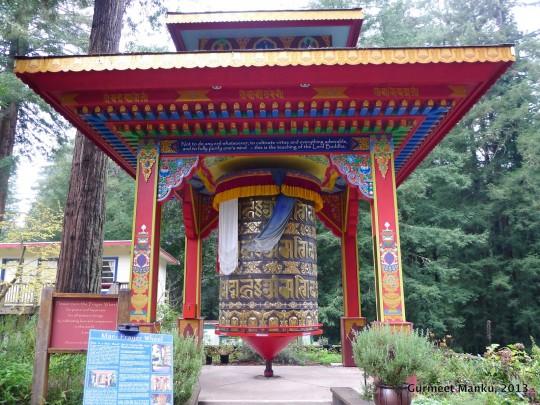 The Great Prayer Wheel at Land of Medicine Buddha.