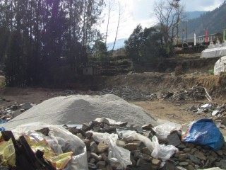 The building site of the new ten rooms for the nuns of Tashi Chime Gatsal Nunnery.