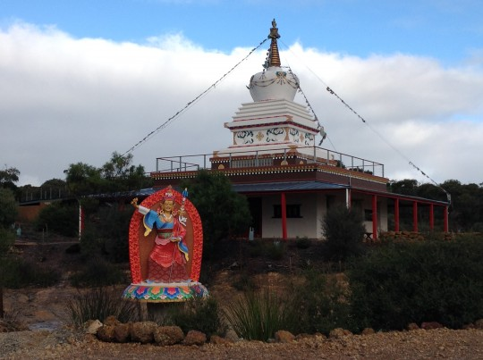 9 ft Padmasambhava statue at De-Tong Ling Retreat Centre, Kangaroo Island, AUS.