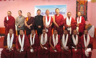 Members of the Nepal Buddhist Federation.