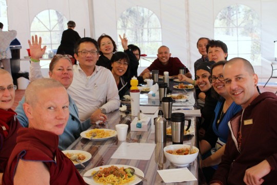 Participants from the southeast Asia regional at lunch, CPMT 2014, Australia, September 2014. Photo by Laura Miller.