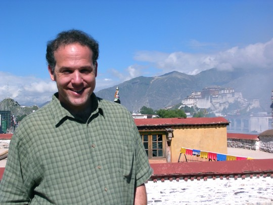 Jim Blumenthal on the Johkang  in Lhasa, Tibet, 2004
