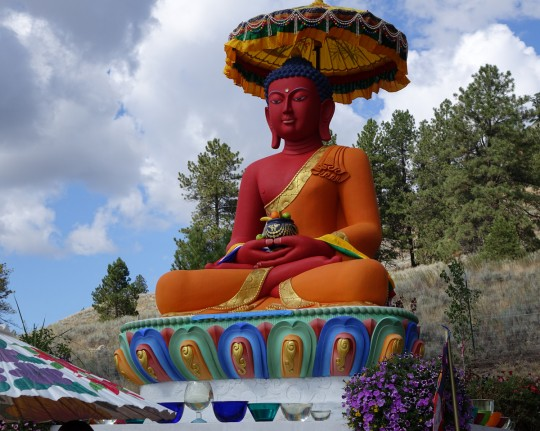 Amitabha Buddha statue on Amitabha celebration day, Buddha Amitabha Pure Land, Washington, US, August 2014. Photo by Ven. Roger Kunsang.