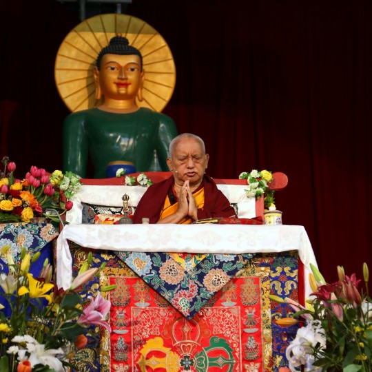 Lama Zopa Rinpoche, Great Stupa of Universal Compassion, Australia, October 2014. Photo by Ven. Thubten Kunsang.