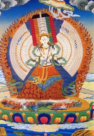 Sitatapatra, also known as White Umbrella Deity. Artist unknown.