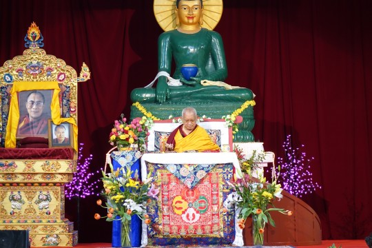 Australia Retreat with Lama Zopa Rinpoche, October 2014.