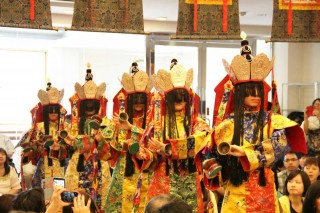 The dance of the five dakinis was offered in this elaborate long life puja for Lama Zopa Rinpoche.