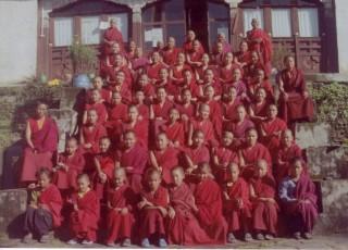 The nuns of Tashi Chime Gatsal Nunnery.