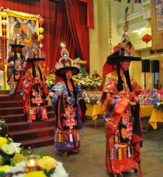 Lama dance at the 1K Event 2013, Losang Dragpa Centre, Kuala Lumpur, Malaysia, October 2013. Photo by Elenie Tan.