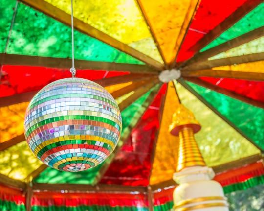 Kadampa stupaatKachoeDechenLing, Aptos, California, US, July 2014. PhotobyChrisMajors.