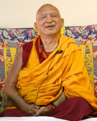 Lama Zopa Rinpoche, Bangalore, India, March 2014. Photo by Ven. Roger Kunsang.