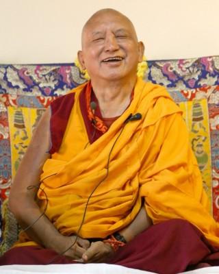 Lama Zopa Rinpoche, Bangalore, India, March 2014. Photo by Ven. Roger Kunsang.