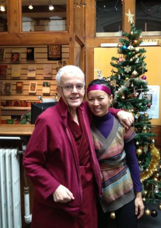Ani Barbara Shannon & Tracy Chau during a Repaying the Kindness holiday celebration.