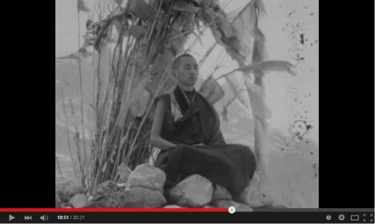 "Screen shot from ""Lama Zopa Rinpoche - Lawudo - 1969"" by Georges Luneau."
