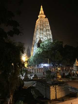 Mahabodhi Stupa, Bodhgaya, India, February 2015. Photo by Ven. Roger Kunsang.