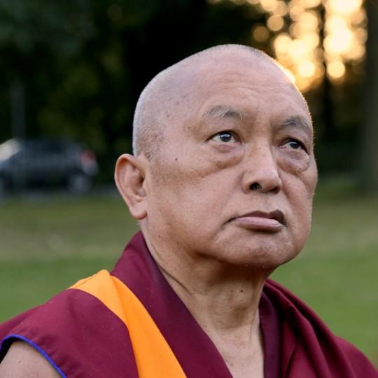 Lama Zopa Rinpoche, UK, July 2014. Photo by Ven. Thubten Kunsang.