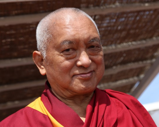 Lama Zopa Rinpoche, Italy, June 2014. Photo by Ven. Thubten Kunsang.
