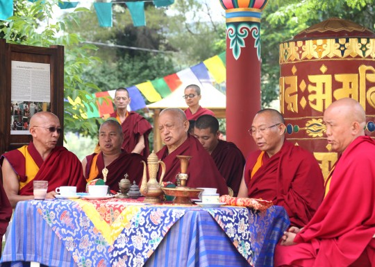 Lama Zopa Rinpoche at Istituto Lama Tzong Khapa, Italy, June 2014. Photo by Ven. Thubten Kunsang.