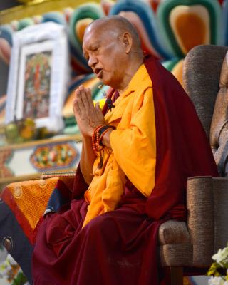 Lama Zopa Rinpoche, Great Stupa of Universal Compassion, AUS, September 2014. Photo by Kunchok Gyaltsen.