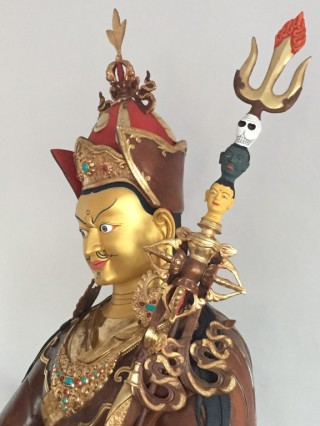 Padmasambhava (Guru Rinpoche) is perhaps the most universally cherished realized being in all of Tibetan Buddhism. Padmasambhava came to Tibet from India in the 8th century and helped establish a pure lineage which is still practiced today by all four major schools of Tibetan Buddhism around the world.