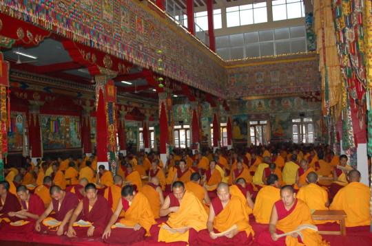 Sera Je Monastery monks performing pujas sponsored by the Puja Fund.
