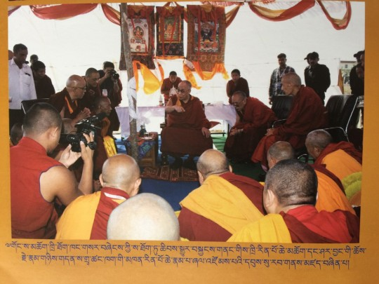 His Holiness explaining the importance of establishing the Geluk International Foundation and offices.
