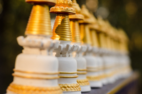 Sangha make three Kadampa stupas with prayers and filled with mantras for every person who has passed away, as well as 13 Mitukpas and three long life deity tsa tsas dedicated to anyone who is sick or is experiencing obstacles.