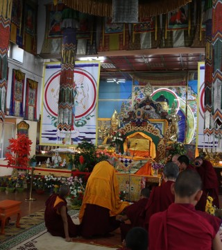 The Idgaa Choizinling gompa, which houses the 100 Million Mani Retreats sponsored by the Lama Zopa Rinpoche Bodhichitta Fund.