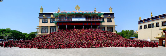 There are 2,500 monks benefiting from the Sera Je Food Fund (3,300 for breakfast) and the annual cost is US$280,000.