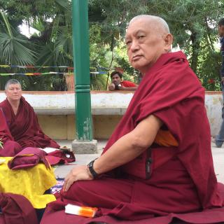 LamaZopaRinpocheteachingatSujata, India, March 2015. Photo by Ven. RogerKunsang.