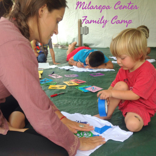Art and creativity are regular features at Milarepa Center family camps, Barnet, Vermont, August 2014. Photo by Felicity Keeley.