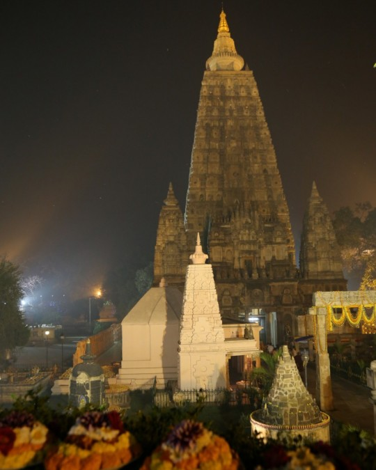 Mahabodhi Stupa, Bodhgaya, India, February 2015. Photo by Ven. Thubten Kunsang.
