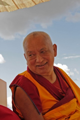 Lama Zopa Rinpoche, Washington, USA, July 2014. Photo by Ven. Lobsang Sherab.