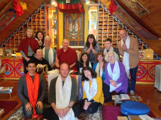 Ven. Tenzin Chogkyi led a three-day retreat on the bodhisattva vows, Milarepa Center, Vermont, January 2015. Photo courtesy of Milarepa Center.