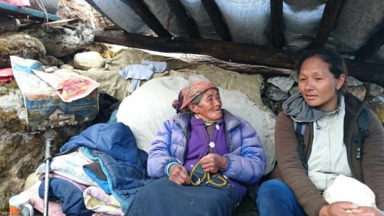 Villagers are doing their best to survive under extremely difficult circumstances.