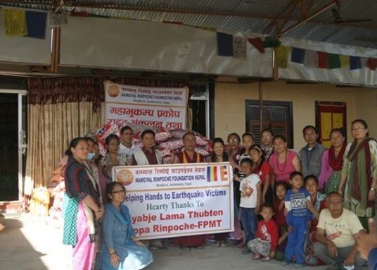FPMT is helping Losang Namgyal Rinpoche get basic needs to Tamang people.