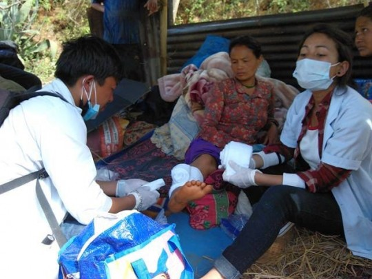 Many were in need of medical attention in addition to basic necessities for survival following the Nepal earthquake of 2015.