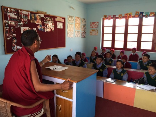 The students follow the standard government educational curriculum during the day and learn about Tibetan Buddhism and culture during after-school hours.