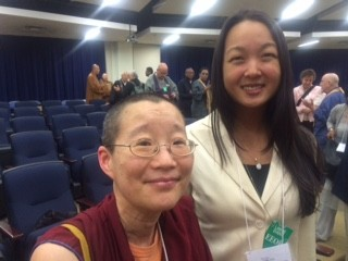 Ven. Tendral and Jennifer Kim, director of Shantideva Meditation Center in New York, at the White House Buddhist Leadership Conference, Washington, D.C., May 14, 2015