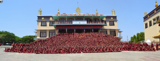The monks of Sera Je Monastery are offered three nutritious meals every single day through the Sera Je Food Fund, one of FPMT's Supporting Ordained Sangha funds.