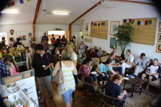 Langri Tangpa Centre opened their doors to local community members of all faiths, Brisbane, Australia, March 2015. Photo courtesy of Langri Tangpa Centre.