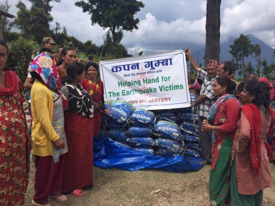 Recent efforts of Kopan Helping Hands has been in the Dolakha District in Northeast Nepal. This district has been most affected by the earthquake and is very difficult to obtain access to. Photo courtesy of Kopan Facebook page.