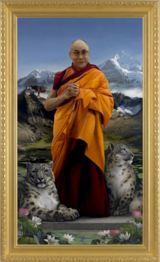 Portrait of His Holiness by Lisa Sawlit